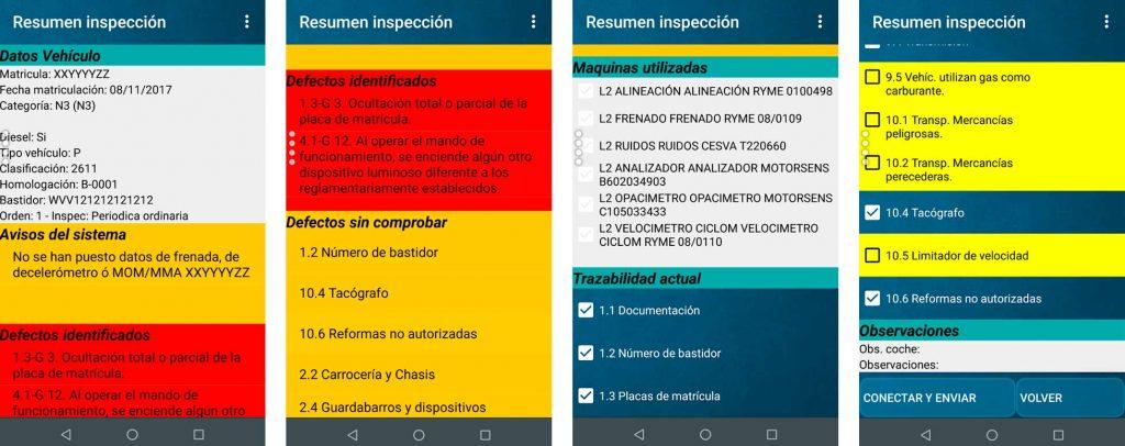 manual modulo seleccion de equipos panel resumen inspeccion app